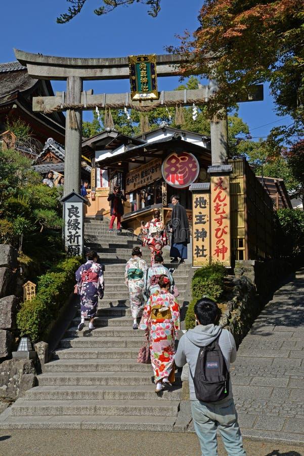 Η λάρνακα Jishu, Κιότο, Ιαπωνία στοκ εικόνες