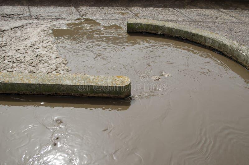 Η λάσπη νερού λυμάτων εγκαθιστά τις εγκαταστάσεις μηχανισμών στοκ εικόνες με δικαίωμα ελεύθερης χρήσης