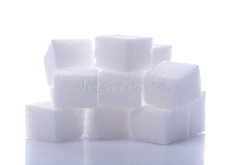 Η άσπρη ζάχαρη κυβίζει το σωρό στοκ εικόνες με δικαίωμα ελεύθερης χρήσης