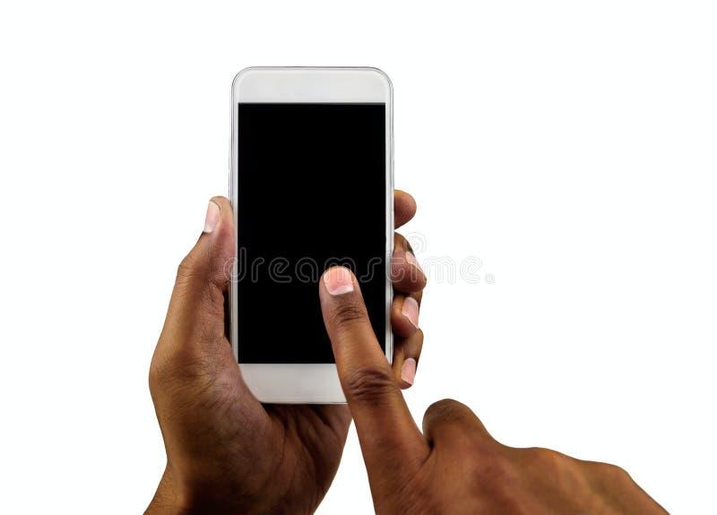 Η άσπρη τηλεφωνική κατακόρυφός μου στοκ εικόνα