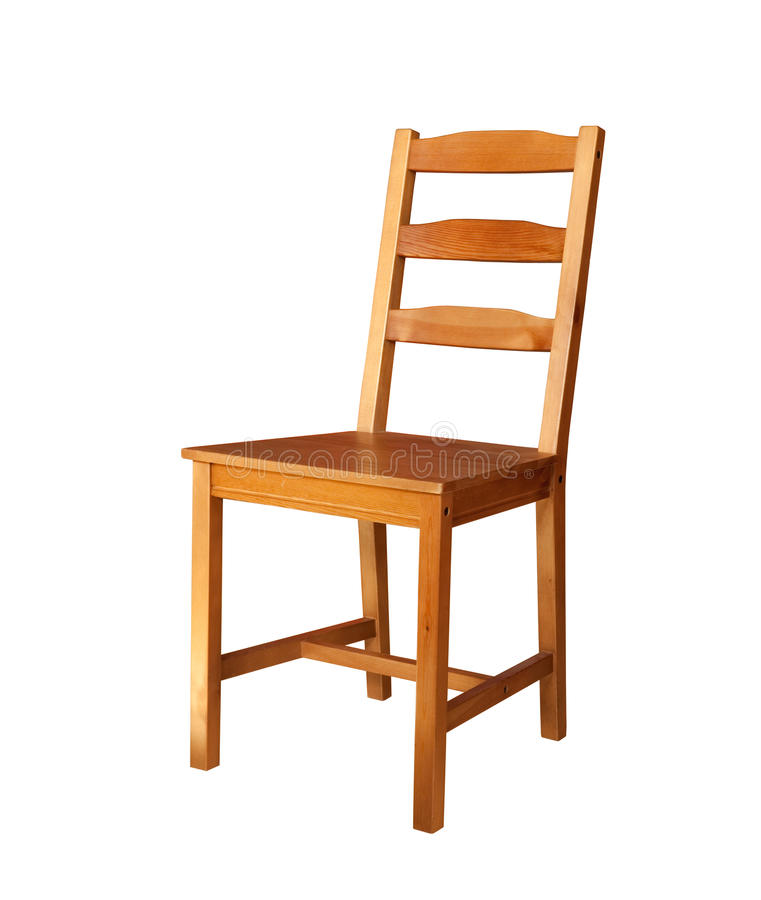 η έδρα απομόνωσε ξύλινο στοκ φωτογραφία