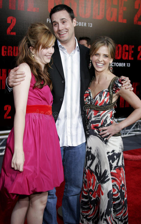 Ηλέκτρινο Tamblyn, Sarah Michelle Gellar και Freddie Prinze Jr στοκ φωτογραφία