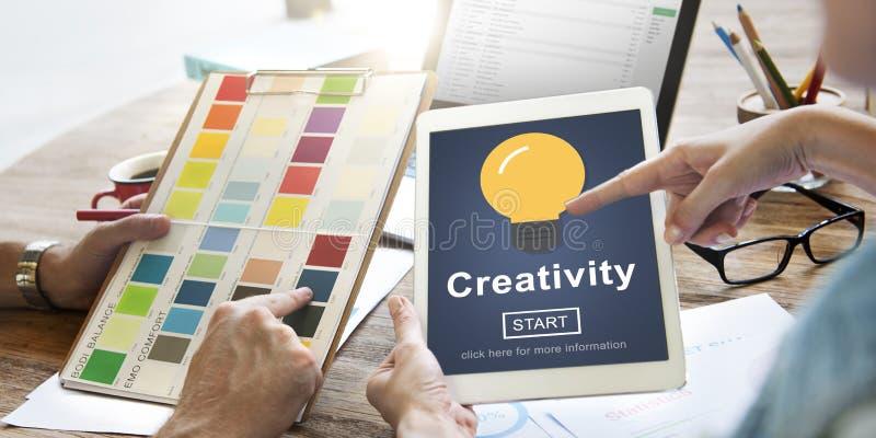 Η έμπνευση φιλοδοξίας δημιουργικότητας εμπνέει την έννοια δεξιοτήτων στοκ εικόνα