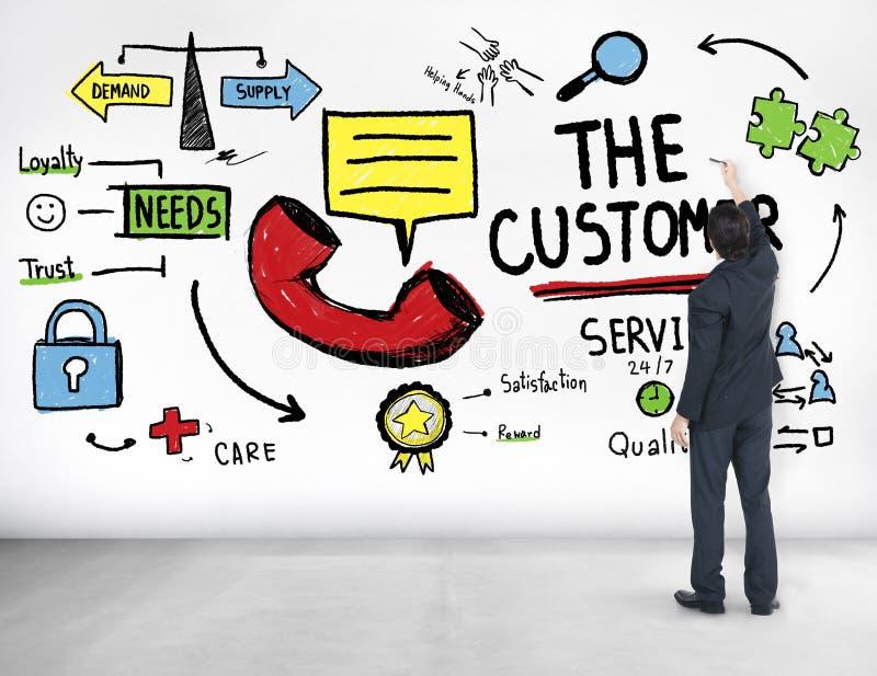 Η έννοια βοήθειας υποστήριξης αγοράς στόχων εξυπηρέτησης πελατών στοκ εικόνες