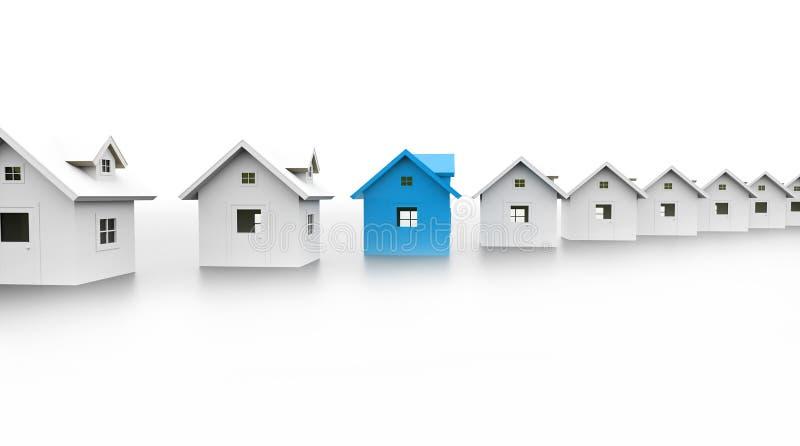 Η έννοια εικονιδίων σπιτιών μια είναι μπλε διανυσματική απεικόνιση