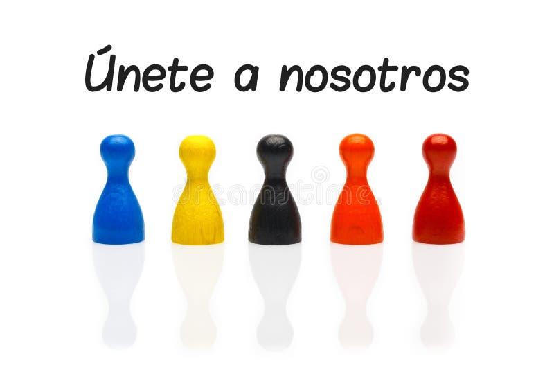 Η έννοια ενώνει το ενέχυρο τα λευκά ισπανικά ομάδων μας στοκ εικόνες με δικαίωμα ελεύθερης χρήσης