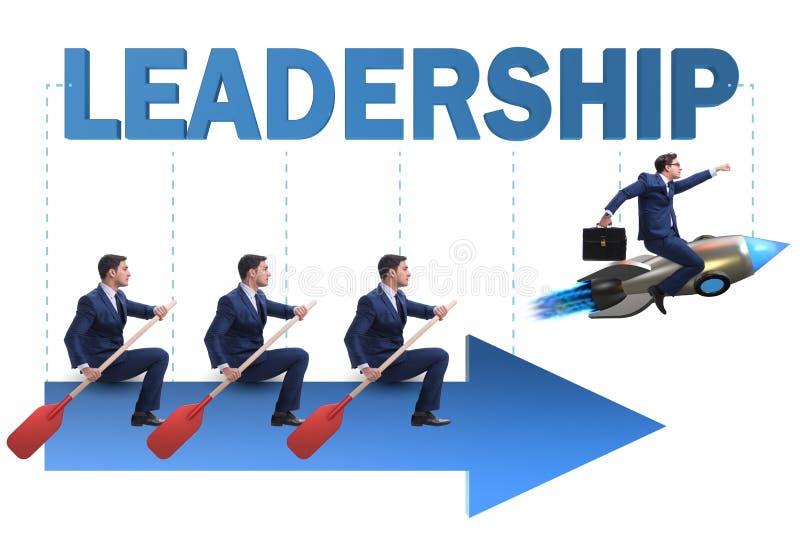 Η έννοια ηγεσίας με τους διάφορους επιχειρηματίες στοκ φωτογραφίες
