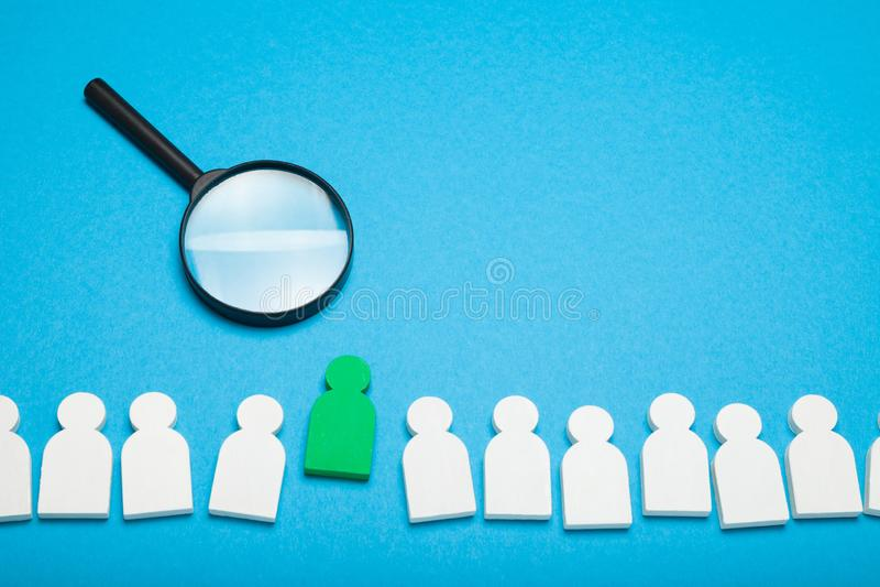 Η έννοια κενής θέσης εργασίας, εφαρμόζει τη συνέντευξη Στρατολόγηση σπουδαστών στοκ φωτογραφία