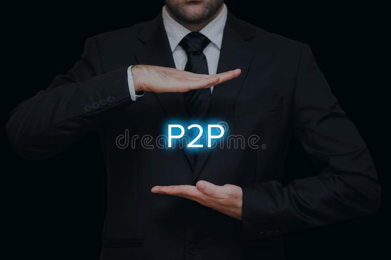Η έννοια λόρδος στο λόρδο P2P στοκ φωτογραφίες με δικαίωμα ελεύθερης χρήσης