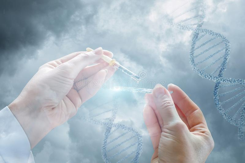 Η έννοια της δοκιμής DNA στοκ φωτογραφία
