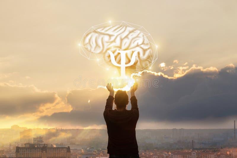 Η έννοια της μελέτης της ψυχής στοκ εικόνες με δικαίωμα ελεύθερης χρήσης