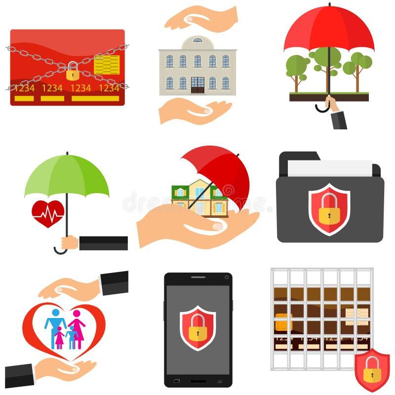 Η έννοια της προστασίας Ασφάλεια Το χέρι προστατεύει από το εξωτερικό περιβάλλον απεικόνιση αποθεμάτων