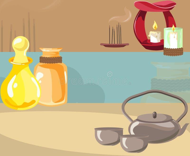 Η έννοια της aromatherapy και διαδικασίας SPA απεικόνιση αποθεμάτων