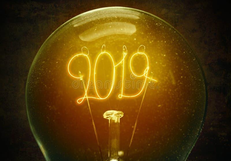 Η έννοια του νέου έτους του 2019 στοκ εικόνες