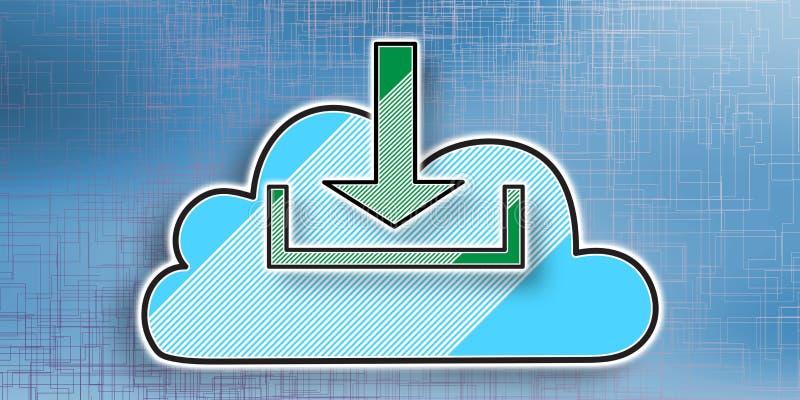 Η έννοια του σύννεφου μεταφορτώνει απεικόνιση αποθεμάτων