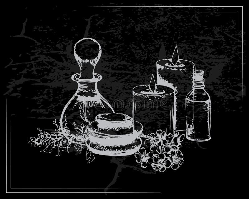 Η έννοια aromatherapy και της SPA διανυσματική απεικόνιση