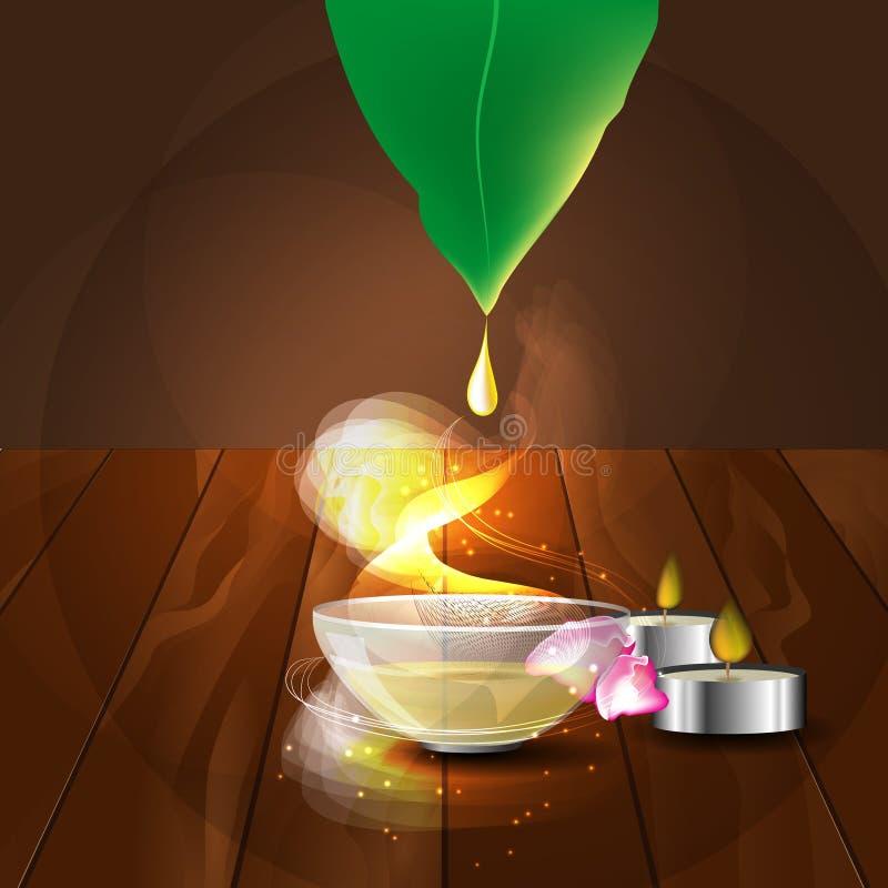 Η έννοια aromatherapy και του μασάζ απεικόνιση αποθεμάτων