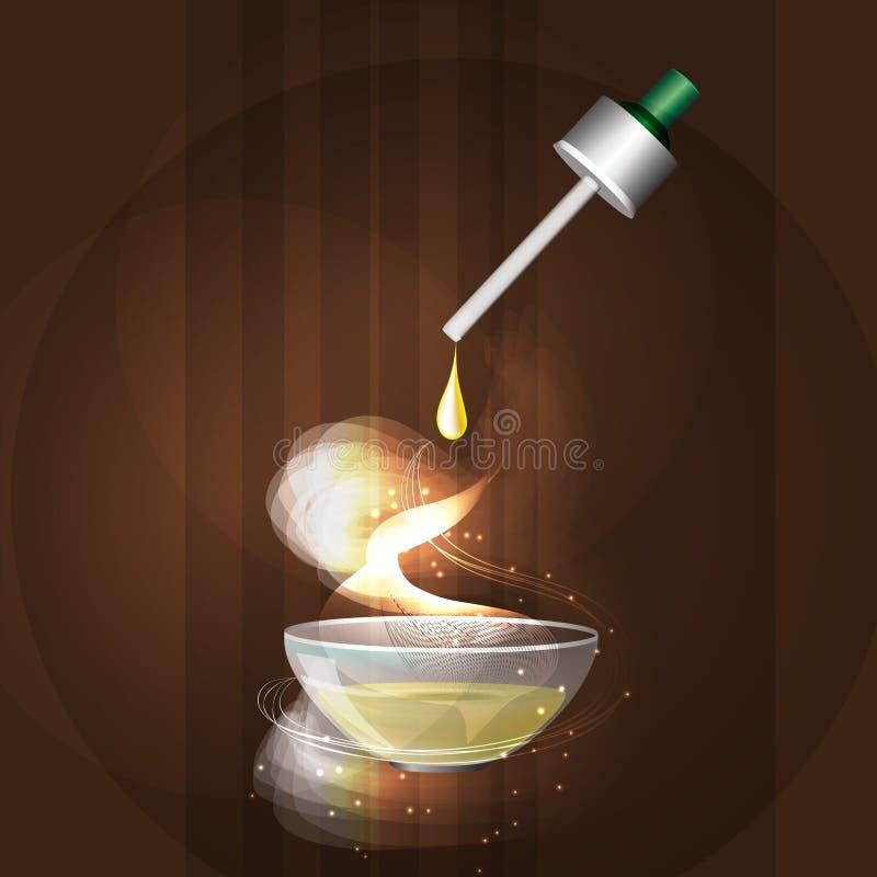 Η έννοια aromatherapy και του μασάζ ελεύθερη απεικόνιση δικαιώματος