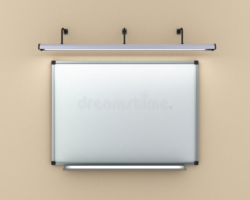Η ένωση πινάκων δεικτών στο φωτισμένο τοίχος λαμπτήρα τρισδιάστατο δίνει ελεύθερη απεικόνιση δικαιώματος