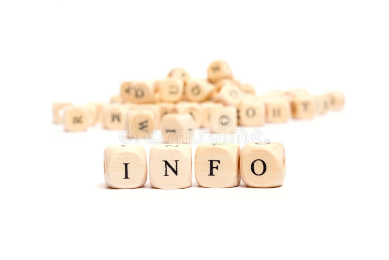 Η λέξη με χωρίζει σε τετράγωνα τις πληροφορίες στοκ εικόνα
