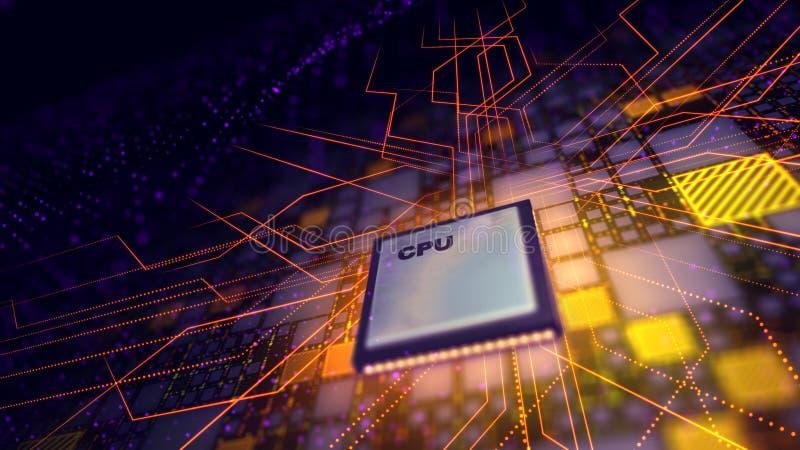 Η έξοχη ΚΜΕ στέλνει τα σήματα δύναμης γύρω διανυσματική απεικόνιση