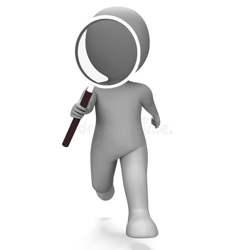 Η έρευνα του χαρακτήρα παρουσιάζει εύρημα ιδιωτικός αστυνομικός και Investigati απεικόνιση αποθεμάτων