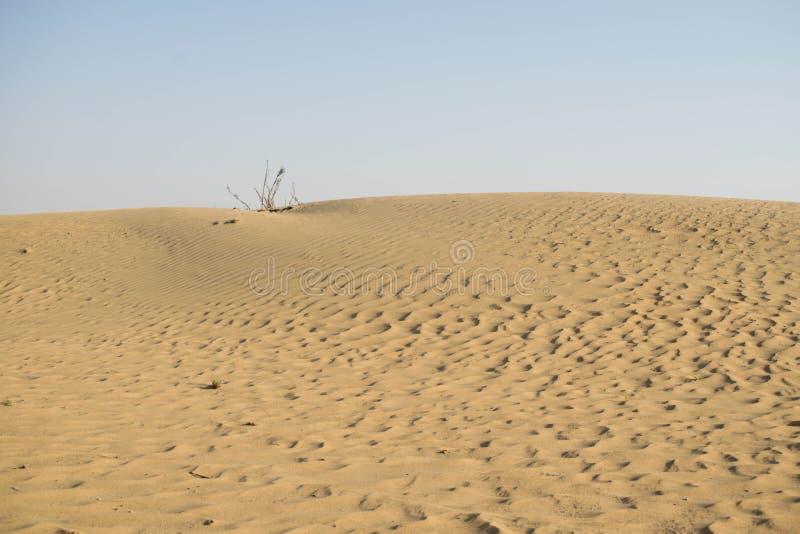 Η έρημος του Ντουμπάι με τους σχηματισμούς άμμου στοκ εικόνα