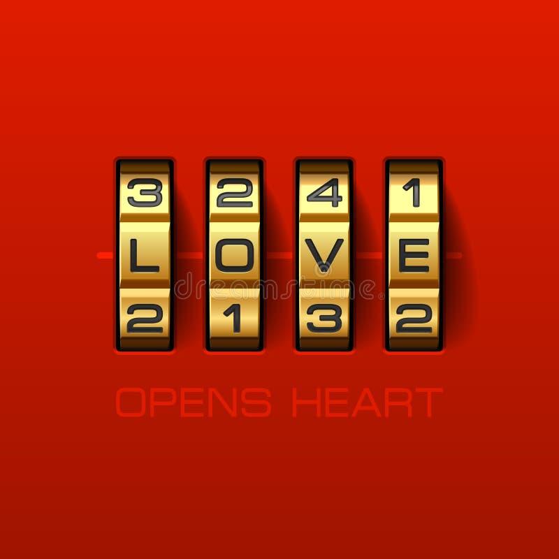 Η αγάπη ανοίγει την καρδιά ελεύθερη απεικόνιση δικαιώματος