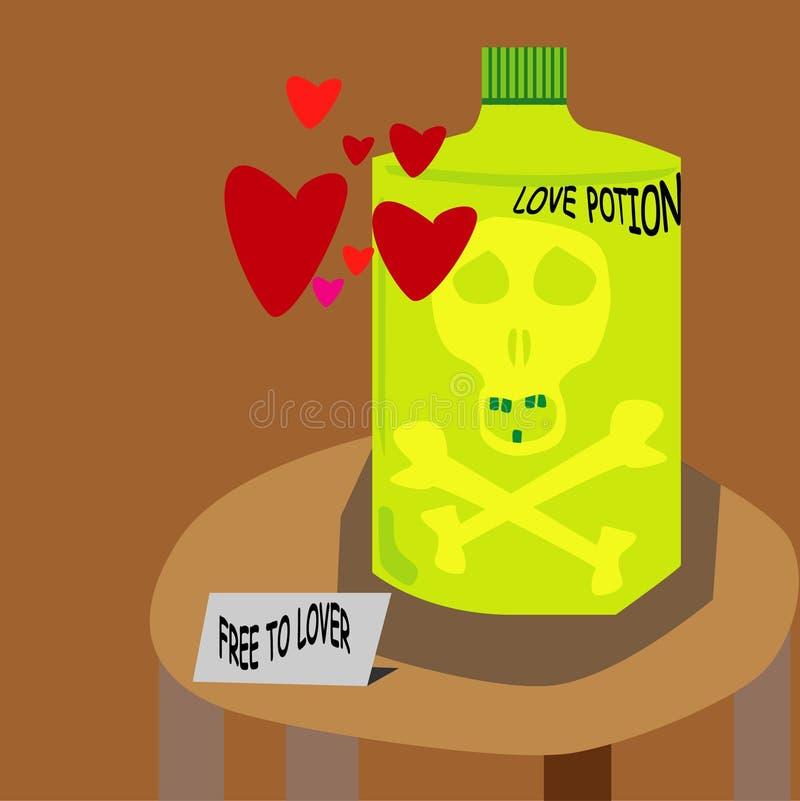 Η αγάπη είναι δηλητήριο στοκ εικόνες