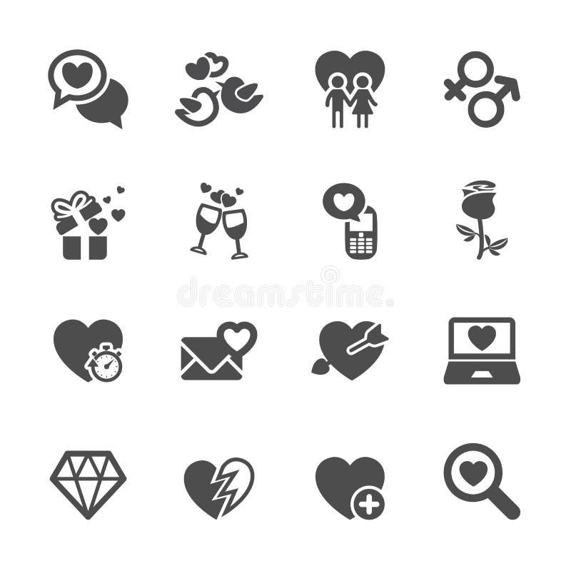 Η αγάπη και το εικονίδιο βαλεντίνων θέτουν 5, διανυσματικό eps10 ελεύθερη απεικόνιση δικαιώματος