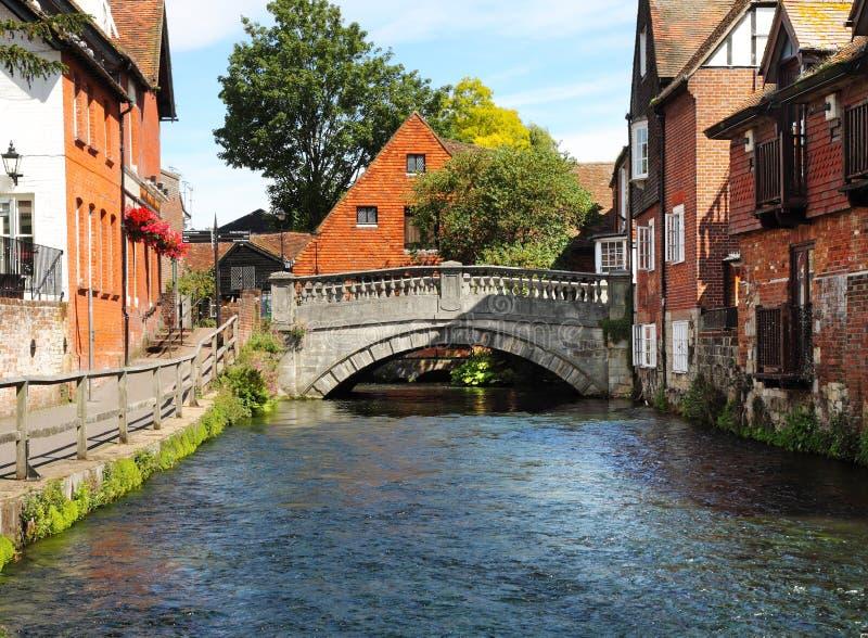 η Αγγλία ο ποταμός Winchester στοκ εικόνες με δικαίωμα ελεύθερης χρήσης