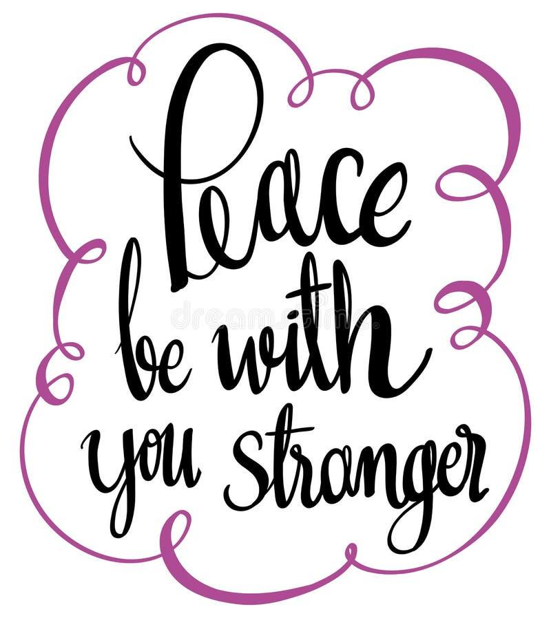 Η αγγλική φράση για την ειρήνη είναι με σας πιό παράξενους διανυσματική απεικόνιση