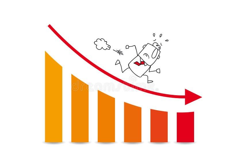 Η αγορά αυξάνεται κάτω διανυσματική απεικόνιση