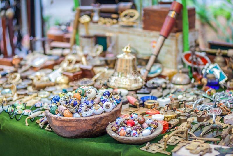 Η αγορά χίπηδων Arabi Punta είναι μια διάσημη θέση στο νησί όπου οι καλλιτέχνες πωλούν τις χειροποίητα τέχνες και τα αναμνηστικά στοκ φωτογραφία