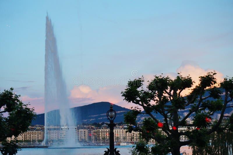Η αεριωθούμενη πηγή δ EAU στη Γενεύη, Ελβετία στοκ φωτογραφία με δικαίωμα ελεύθερης χρήσης