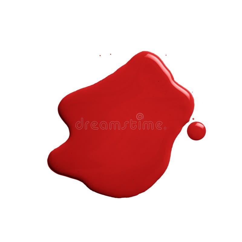 Η λακκούβα ενός χυσίματος χρωμάτων στοκ εικόνα