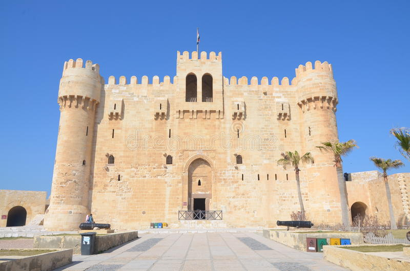 Η ακρόπολη Qaitbay στοκ εικόνα