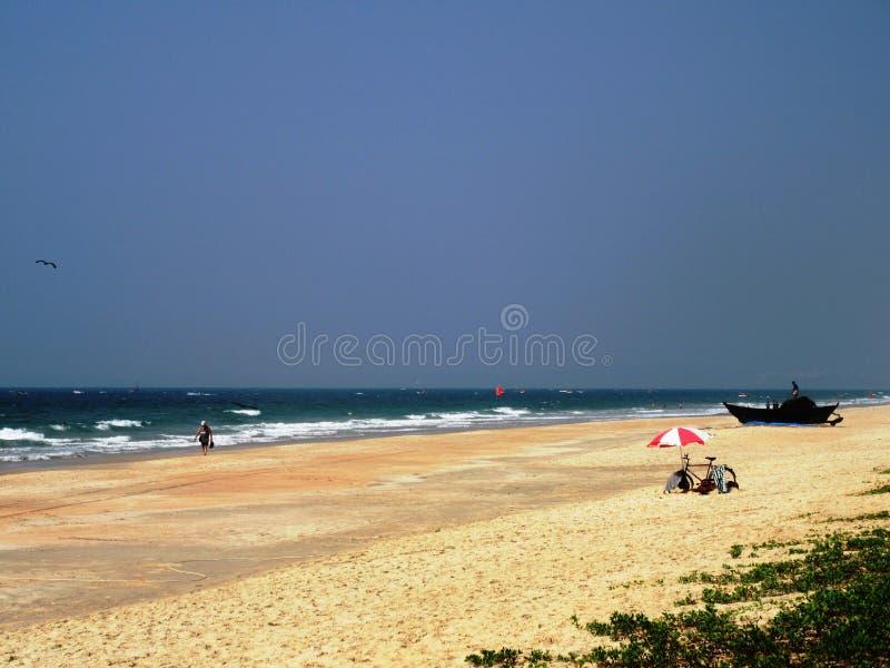 Η ακτή και οι παραλίες Goa στοκ εικόνα