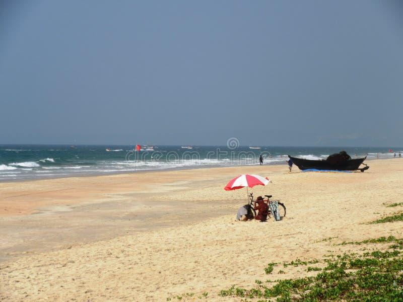 Η ακτή και οι παραλίες Goa στοκ φωτογραφία