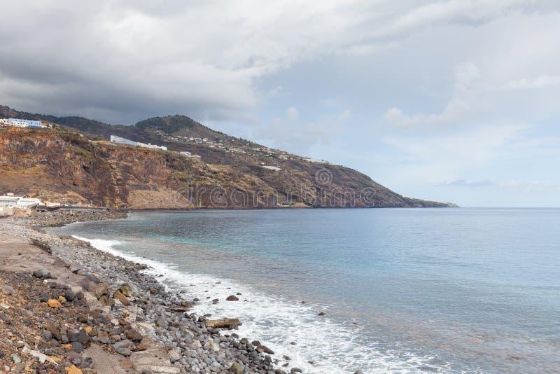Η ακτή Λα Palma που αντιμετωπίζεται από Santa Cruz στοκ εικόνες με δικαίωμα ελεύθερης χρήσης