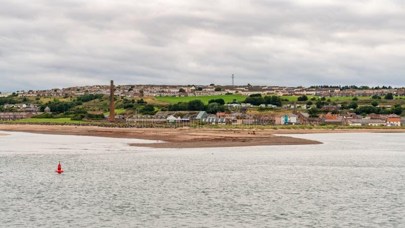 Η ακτή της Northumberland σε Spittal, Αγγλία, UK στοκ εικόνα