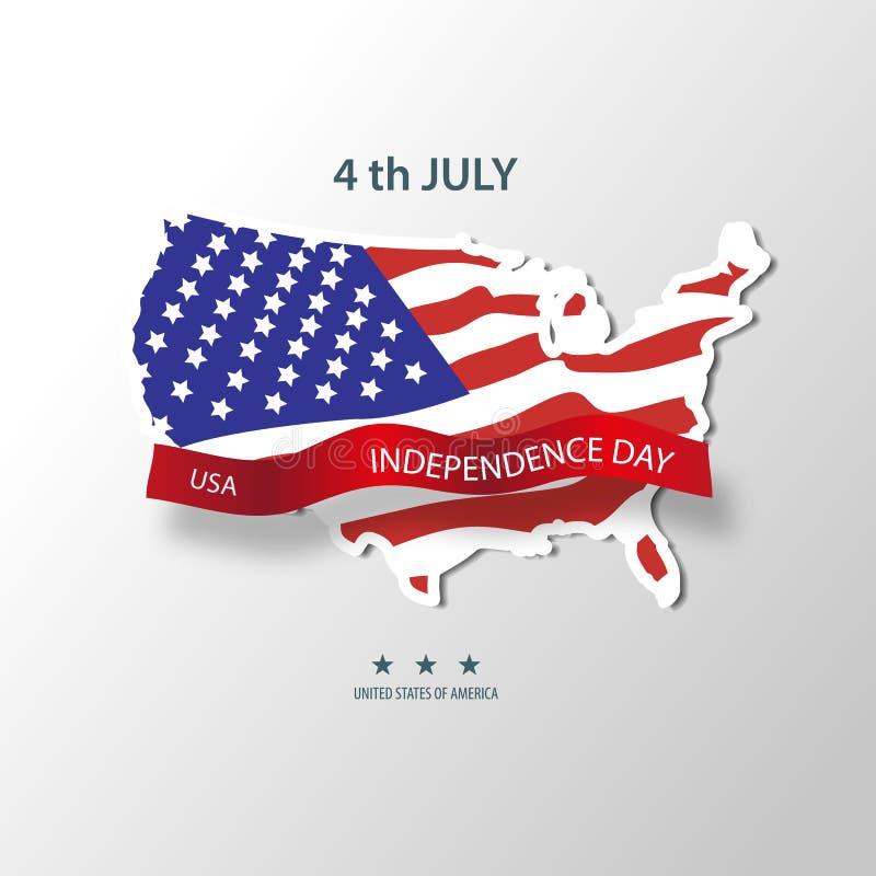 η Αμερική δηλώνει ενωμένο ανεξαρτησία Ιούλιος της 4$ης ημέρας διάνυσμα 10 απεικόνιση αποθεμάτων