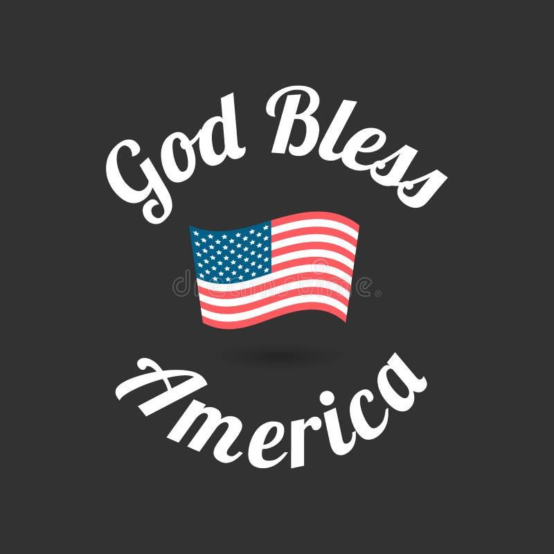 η Αμερική ευλογεί το Θε διανυσματική απεικόνιση