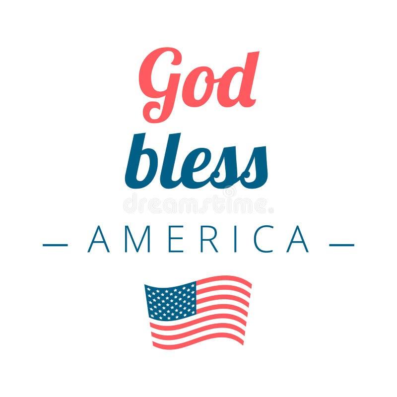 η Αμερική ευλογεί το Θε ελεύθερη απεικόνιση δικαιώματος