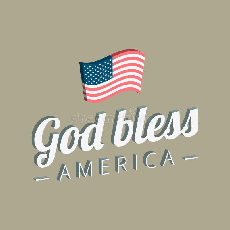 η Αμερική ευλογεί το Θε απεικόνιση αποθεμάτων