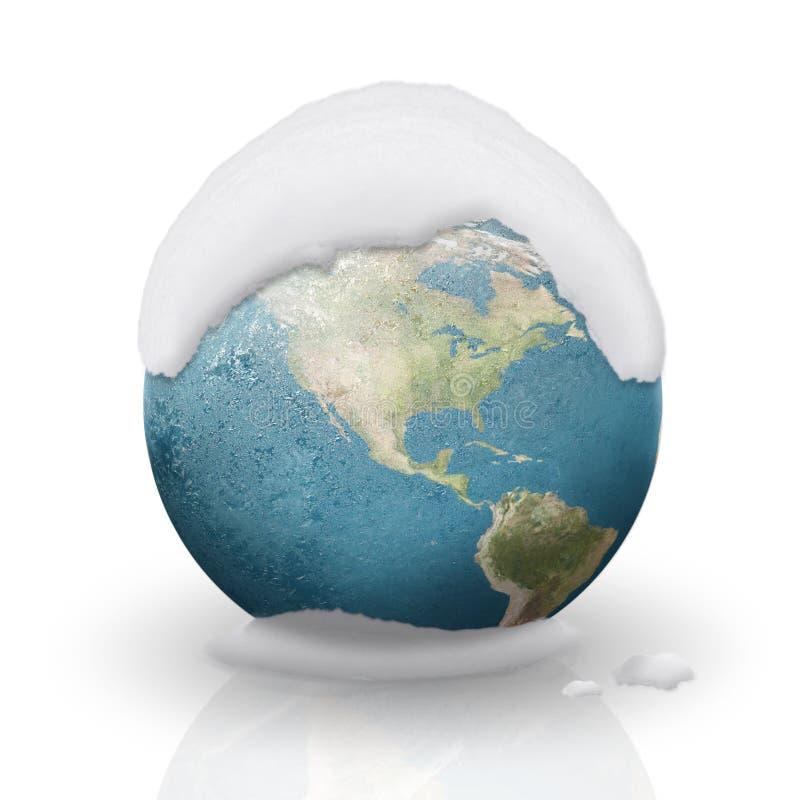 η Αμερική κάλυψε παγωμένο  διανυσματική απεικόνιση