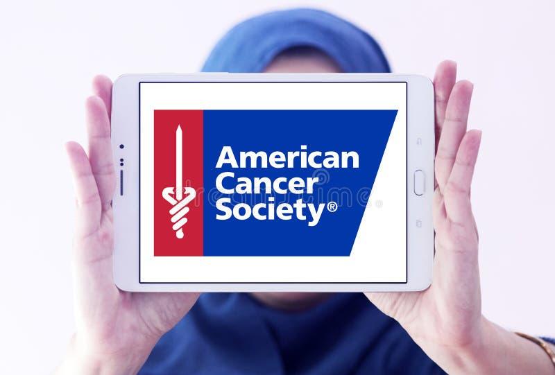 Η αμερικανική Αντικαρκινική Εταιρεία, ACS, λογότυπο στοκ εικόνες