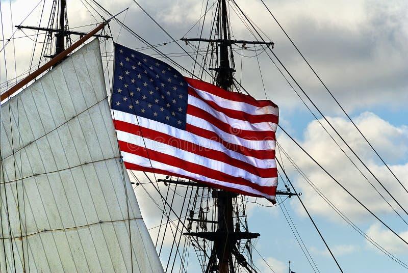 Η ΑΜΕΡΙΚΑΝΙΚΗ σημαία στοκ φωτογραφίες
