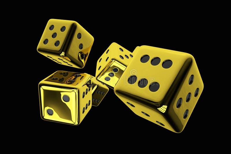 Η λαμπρή χρυσή χαρτοπαικτική λέσχη χωρίζει σε τετράγωνα διανυσματική απεικόνιση