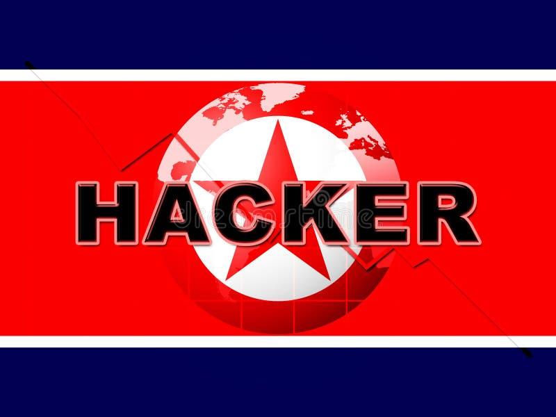 Η αμυχή σημαίνει την τρισδιάστατη απεικόνιση επίθεσης Βόρεια Κορεών διανυσματική απεικόνιση